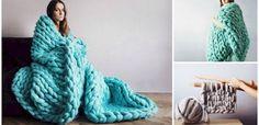 Voici comment tricoter cette couverture géante en seulement 4 heures