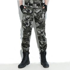 Mens Outdoor Multi Pockets Casual Pants Military Tactical Trousers Overalls
