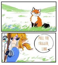 SO TRUE I'M SO SORRY #botw #LegendofZelda... I actually didn't know that the foxes we're good for food until Wolf Link killed one.
