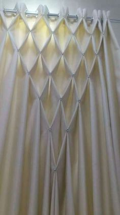 Smocking for curtains Bohemian Curtains, Home Curtains, Hanging Curtains, Swag Curtains, Bohemian Decor, Window Curtains, Macrame Curtain, Beaded Curtains, Rideaux Design