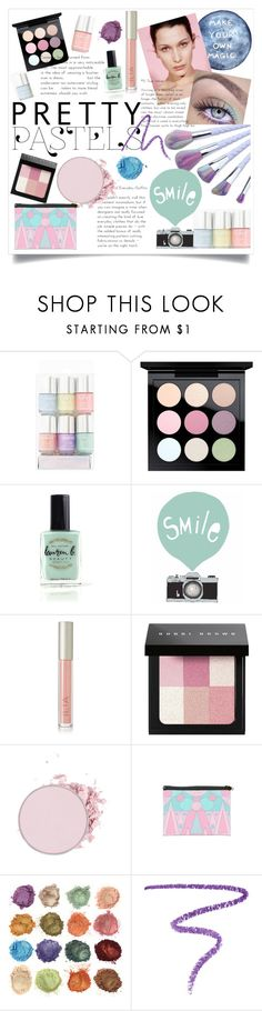 """pretty pastel : make up"" by bluedewred ❤ liked on Polyvore featuring beauty, MAC Cosmetics, Lauren B. Beauty, Ilia, Bobbi Brown Cosmetics, Marc Jacobs, makeup, pastel and prettypastel"