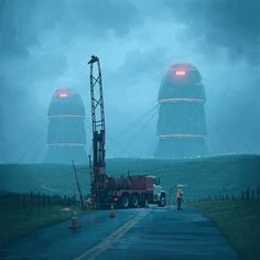 Simon Stålenhag's Incredible New Paintings Show an Alien Invasion That has Failed as Much as it has Succeeded - Digital Arts