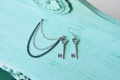 Silver Key Chain Cartilage Earring by oflovelythings on Etsy, $10.00