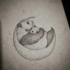 Panda - Tatto Design -Dotwork
