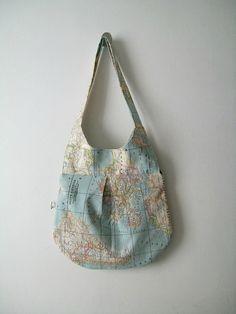 World Map Shoulder Bag