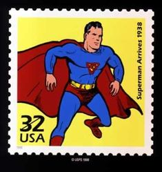 Superman U.S. postage stamp