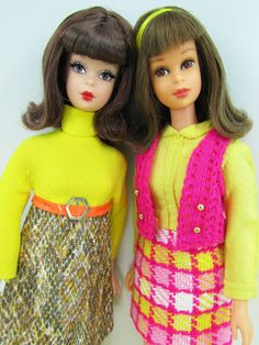 (L) Check Please Francie (2011 repro) and Bendable Leg Francie Doll (1966 - 1968)