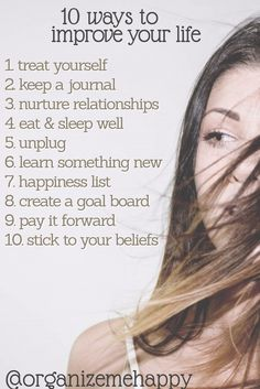 10 ways to improve your self