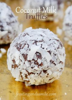 Coconut Milk Truffles have rich cocoa flavor with a touch of coconut.  They make great Christmas gifts or something special to bring to a New Year's Eve party.