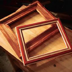 Router-Made Picture Frames Free Downloadable Plan. Build picture frames for a friend or family as the perfect custom holiday gift.