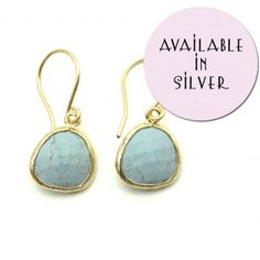 Turquoise Stone Earrings - Vintage Inspired Jewellery By Zara Taylor