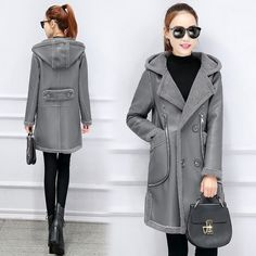 32.98$  Buy here - https://alitems.com/g/1e8d114494b01f4c715516525dc3e8/?i=5&ulp=https%3A%2F%2Fwww.aliexpress.com%2Fitem%2FNew-Winter-Collection-2016-lambswool-Coat-Medium-Length-Fashionable-PU-coat-Women-s-Hooded-Warm-Jacket%2F32779895189.html - New Winter Collection 2016 lambswool Coat Medium Length Fashionable PU coat Women's Hooded Warm Jacket 32.98$
