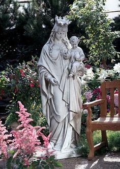 Madonna, Queen Of Heaven Life Size Garden Statue