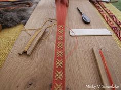 12th century brocaded tablet woven by Micky