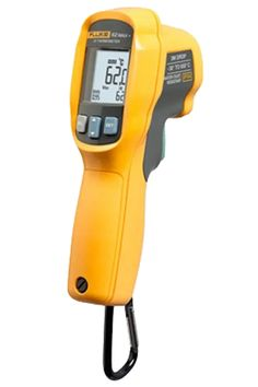 Accurate infrared technology and dual lasers provide a 12:1 distance to spot ratio, making it easier to accurately measure temperatures in hard to reach areas. Rugged enough to take a 3-meter drop