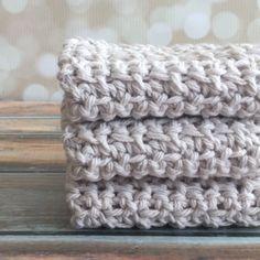 Cotton Crochet Dishcloth/Washcloth by curlsofsunshine on Etsy
