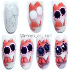 Cat Nail Art, Animal Nail Art, Cat Nails, Red Nail Designs, Nail Polish Designs, Vernis Semi Permanent, Pastel Nails, Beautiful Nail Art, Stylish Nails