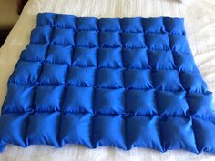 Blue cotton weighted blanket 36x42, 8 lbs ready to ship  Ask a Question $80.00