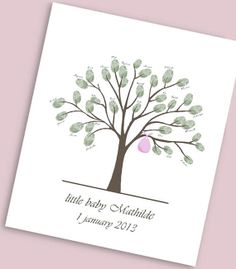 Baby Shower Family Tree Printable Guest Signature by ByYolanda, €14.00