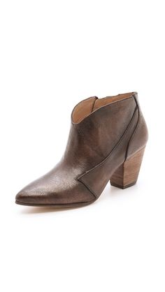 Boots are the best part of a fall wardrobe!  Belle by Sigerson Morrison Yoko Pearlized Short Booties