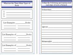 Rocks and Minerals Mini Booklet PDF