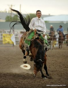 Tanner Salberg, Richland, Montana riding to a 72.5 in the Miles City Bucking Horse Sale WSRRA ranch bronc riding. (Shared by the WSRRA - Western States Ranch Rodeo Association, Facebook.)