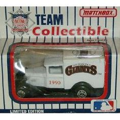 San Francisco Giants 1990 Matchbox/White Rose MLB Diecast Ford Model A Truck Baseball Collectible by MLB  $19.29 Mlb Giants, Matchbox Cars, San Francisco Giants, Ford Models, Diecast, Lunch Box, Trucks, Baseball, Rose