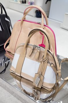 Coach Spring 2014 Preview - I love these new dome shaped satchels!  I want!