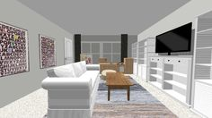 How to plan a room's furniture layout and how to design mock-up rooms online like a professional for free using one simple website.