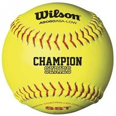 Optic Yellow Wide Selection; 11-inch Wilson A9306 Asa Series Softball 12-pack