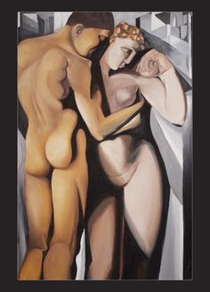 """Tamara De Lempicka's """"Adam and Eve"""" painting by Corinne Dany  Photography and Design for Chelsea Park B&B, Bowral."""