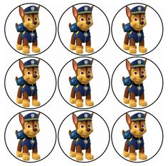 Paw Patrol: Chase Free Printable Mini Kit. | Oh My Fiesta! in english Paw Patrol Cake, Paw Patrol Party, Paw Patrol Birthday, 5th Birthday Party Ideas, 3rd Birthday, Personajes Paw Patrol, Party Printables, Free Printables, Imprimibles Paw Patrol