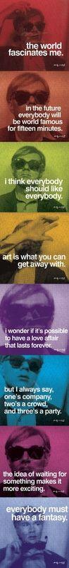 Andy Warhol. ich kopier das einfach... werde ich dann reich?