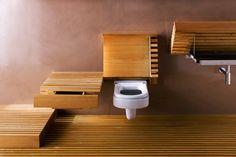 Shelf to hide toilet.