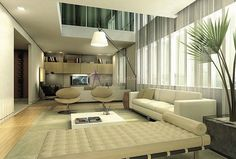 Decor Salteado - Blog de Decoração | Arquitetura | Construção | Paisagismo: Casa com pé direito duplo - como decorar? Veja dicas e modelos!
