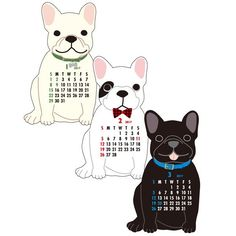 Greeting Life ANIMAL DIECUT CALENDAR French Bulldog C-914-ET Dear our 2017 animal and regular calendars lovers!! size : 150mm / 140mm/ 40mm  check more Greeting Life products