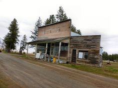 """old store in Friend, Oregon. Ghost Town. courtesy of """"The Adventures of Big Bummed Girl and her Bike"""""""