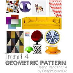 """""""Trend 4 Geometric Pattern"""" by design2square on Polyvore Geometric Pattern Design, Article Design, 2014 Trends, Home Staging, Floor Chair, Design Trends, Kids Rugs, Interior Design, Polyvore"""