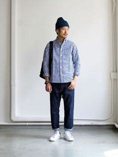 Cropped Denim - One Wash Japan Fashion, Daily Fashion, Mens Fashion, Curvy Fashion, Street Fashion, Fashion Trends, Style Du Japon, Style Minimaliste, Look Man