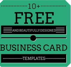 Business cards are essential marketing resources. Here is a list of links to 10 beautifully designed and free small business card templates. Small Business Cards, Card Templates, Entrepreneurship, Free Design, Marketing, Beauty, Card Patterns, Beauty Illustration