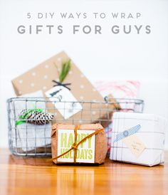 Wrap This: 5 DIY Ways to Wrap Gifts for Guys - Paper and StitchPaper and Stitch