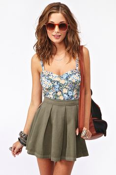 Brianna Floral Tank in Clothes Tops at Nasty Gal Cute Summer Outfits, Spring Outfits, Cute Outfits, Summer Clothes, Passion For Fashion, Love Fashion, Fashion Outfits, Spring Summer Fashion, Style Summer