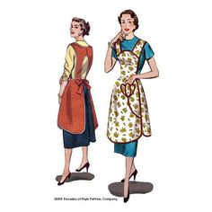 1950s Protect and Serve Apron from the Mad Men Era - #5005 – Decades of Style Pattern Company