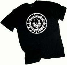 Amazon.com: Battlestar Galactica Badge Adult T-Shirt: Clothing  $17-25