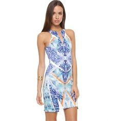 Bless'Ed Are The Meek Kaleidosnake Dress Bodycon Dresses Multi Clothing Fashion Brand Sale