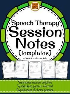 Session data templates, FREE. Repinned by SOS Inc. Resources pinterest.com/sostherapy/.
