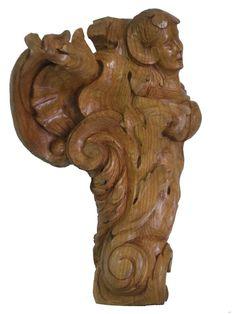 Ondina - Enrica Barozzi's wood sculpture