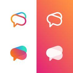 by Jeroen van Eerden App Icon Design, Logo Design Inspiration, Language Logo, Flat Logo, Bird Logos, Coffee Logo, App Logo, Creative Logo, Tech Logos