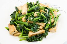 Tofu stir with spinach and Mushrooms.. Fatfree, healthy ánd delicious.. <3