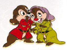 New LE Disney Pin Chip Dale Snow White and & the Seven 7 Dwarf Grumpy Dopey RARE